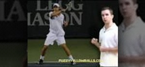 Follow through in a tennis forehand