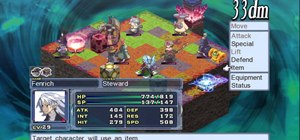 Use the Red Cell Phones and access Cabinet Info in Disgaea 4