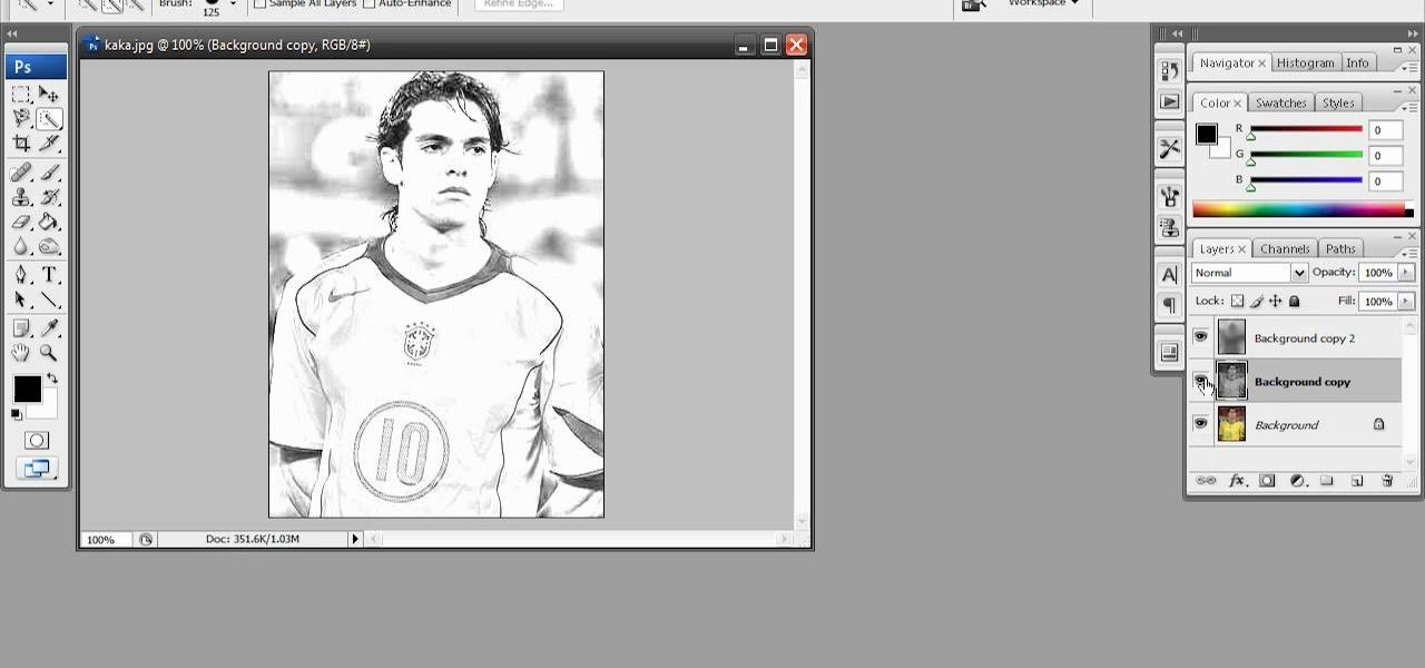 Drawing Lines In Dreamweaver : How to create a rough sketch effect in adobe photoshop