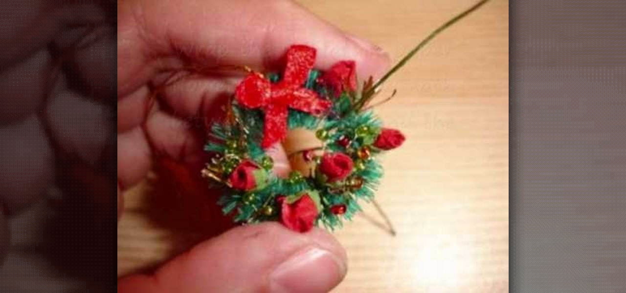 How To Make A Miniature Christmas Wreath Christmas Ideas