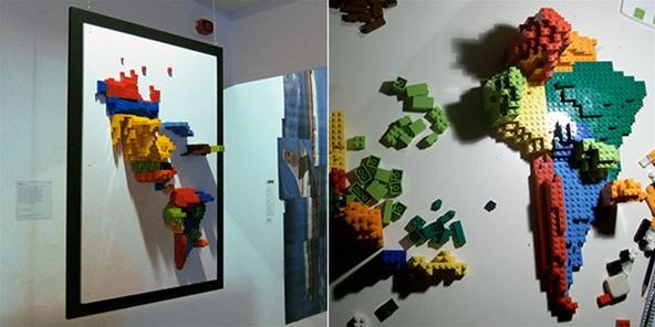 Infographics built of LEGO