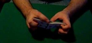 Do a riffle card shuffle