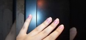 Create a pink and white nail design