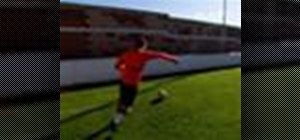 Cross the soccer ball with Juan Mata