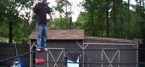 Perform Jeff Hardy's Swanton Bomb pro wrestling move