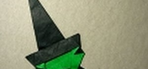 Make a fun and spooky origami witch for Halloween