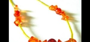 Make a sunset-inspired necklace