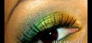 "Get a ""Carribean sunrise"" makeup look with your eyes"