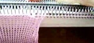 Machine knit a twisted stitch