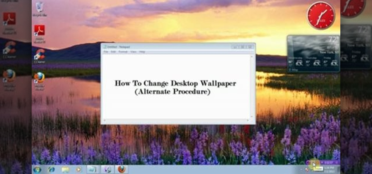 Change and Customize Desktop Background