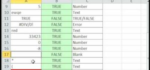 Use OR, ISNUMBER and ISTEXT in Excel