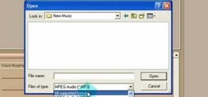 Convert a WAV file to MP3 format in Music Morpher Gold