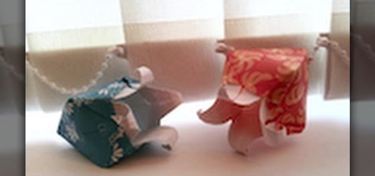 How To Make A Tiny Origami Elephant