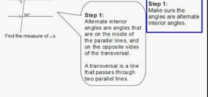 Find an angle using alternate interior angles