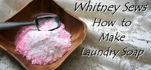 Make cheap and safe handmade laundry soap