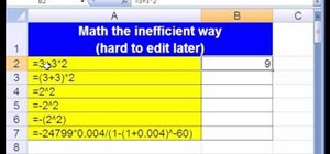 Use Excel to do math