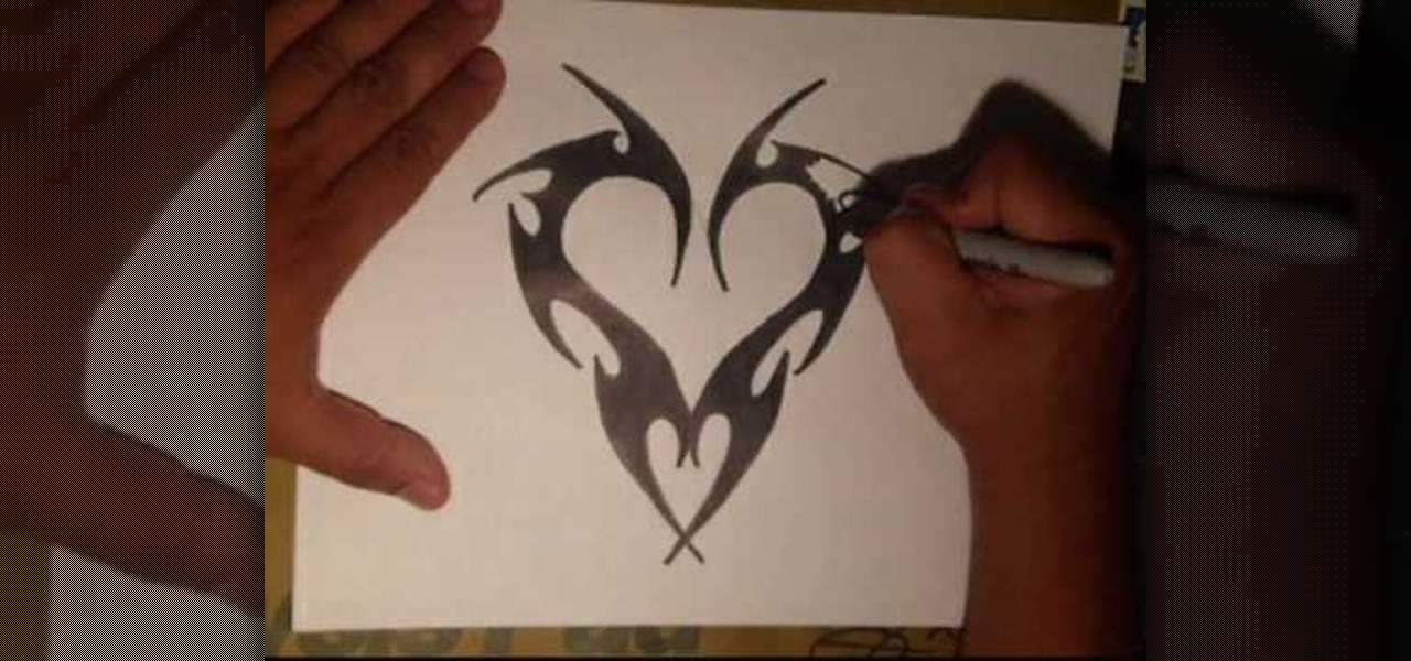 How To Draw Graffiti Hearts How to draw an edgy tattoo