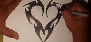 Draw an edgy tattoo heart by Wizard