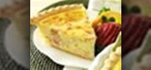 Make quiche with ham and cheese