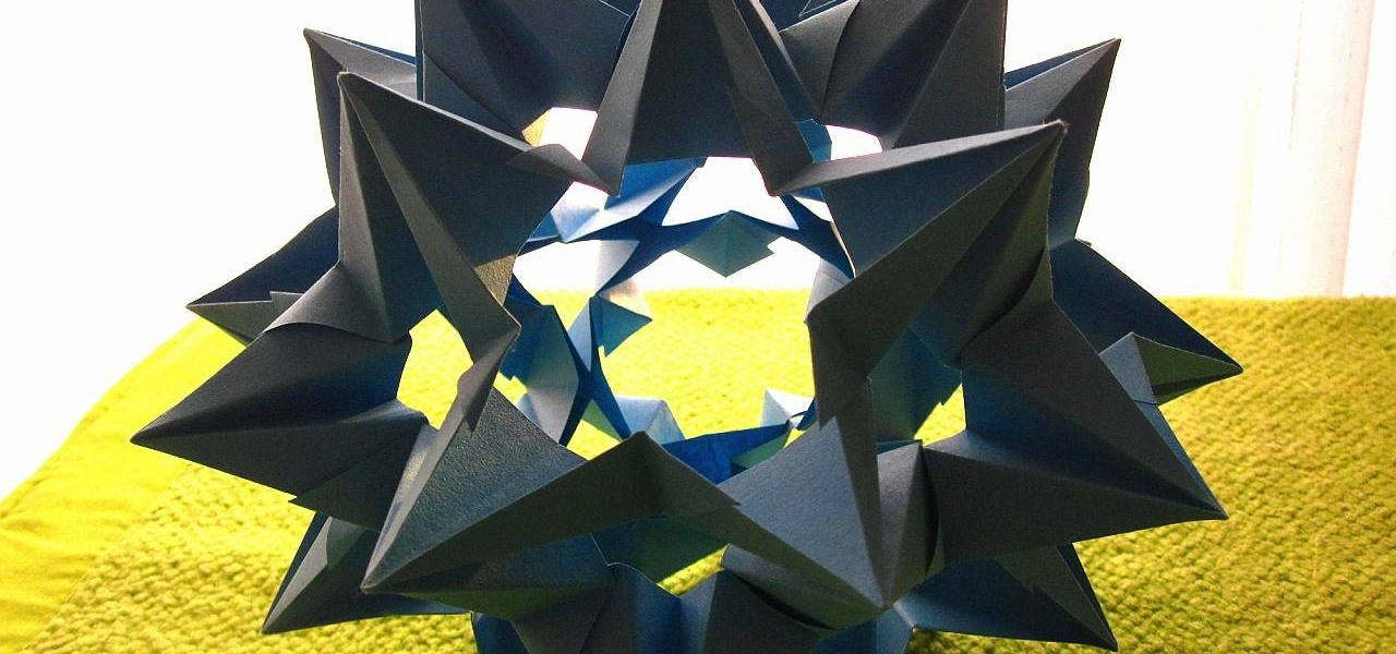 How To Fold An Origami 3d Omega Star Origami Wonderhowto