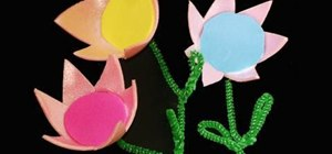 Make egg carton flowers with your kids