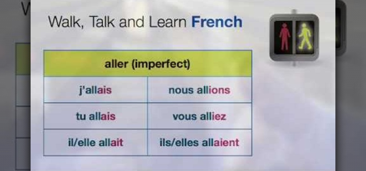 Learn french verb aller