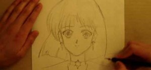 Draw an anime manga Sailor Saturn and Neptune