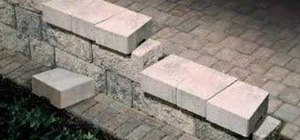 Step down or end your patio wall