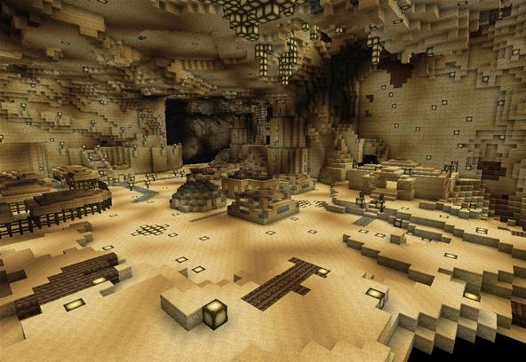 Thfrbddn1 is making an epic underground city on the server!