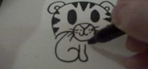 Draw a cartoon tiger