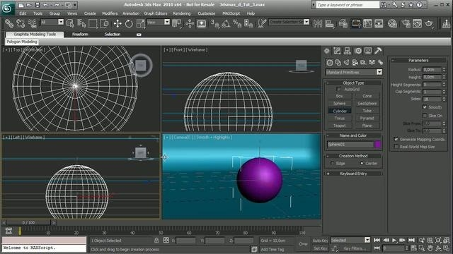Create simple glass shaders in 3D Studio Max 2010
