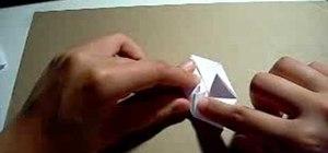 Fold a paper origami cube