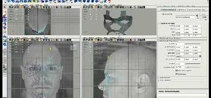 Model a head in 3D using Maya edge extrusion method