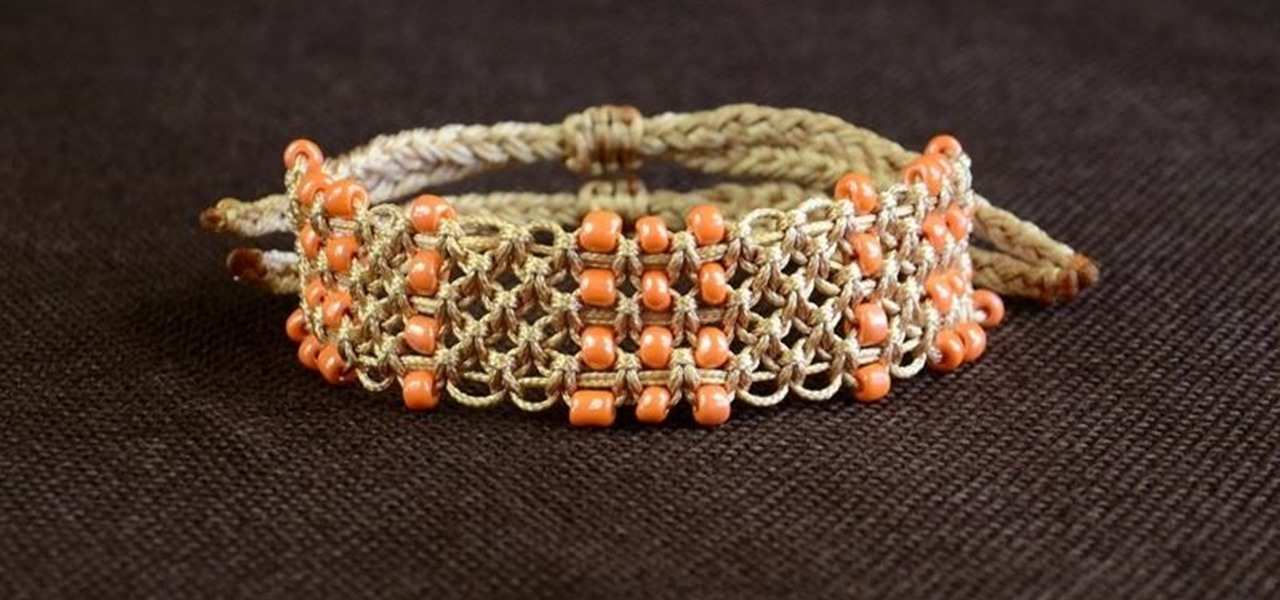 How To : DIY Easy Square Knot Bracelet with Beads