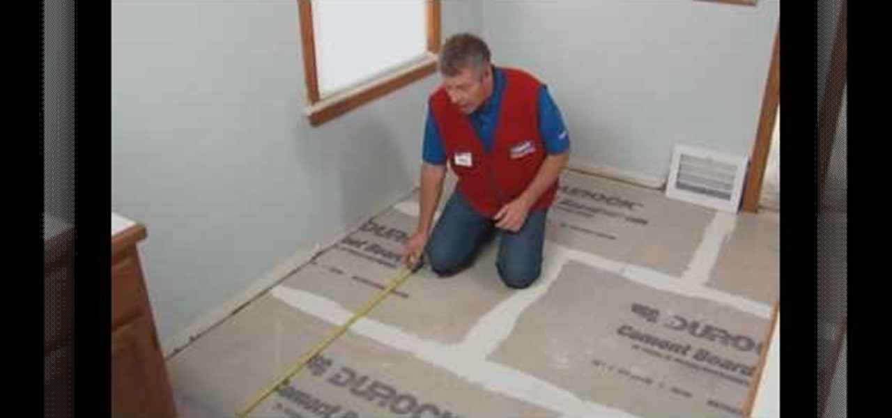 How to Install a ceramic or porcelain tile floor with Lowe\'s ...