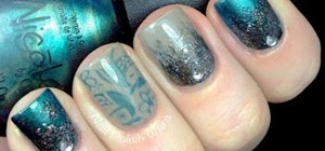How To Glitter Stamping Nail Art Nails Manicure Wonderhowto