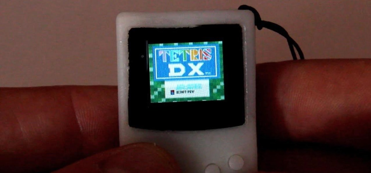 This Tiny Keychain-Sized Game Boy Can Actually Be Played Like the Big One