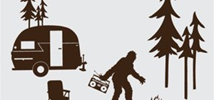 Sasquatch Camping Wall Decals