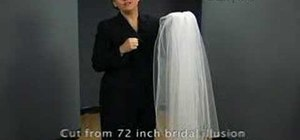 Cut an oval style wedding veil