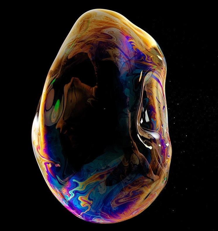 The Iridescent Beauty of Bursting Bubbles Captured with High-Speed Photography