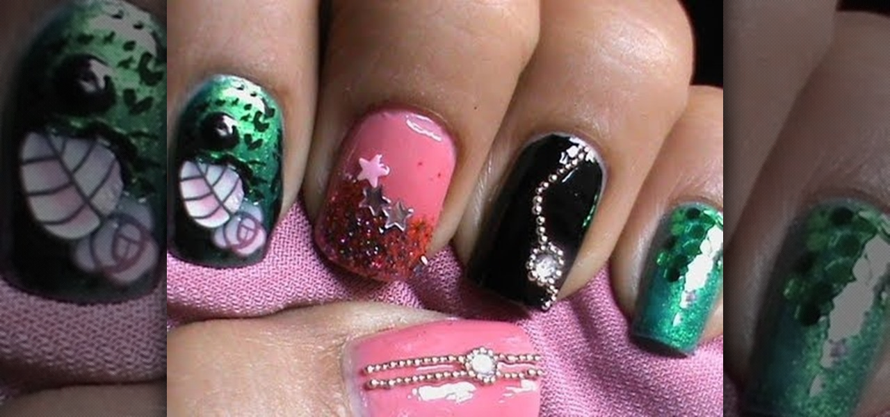 2013 DIY New Years Eve Party Nails Tutorial
