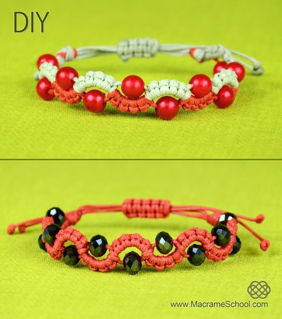 Easy Wave Bracelet with Beads - Tutorial