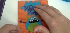 Craft a cute monster party invitation with Cricut