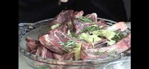 Make Mediterranean-style lamb chops