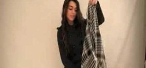 Tie a Shemagh scarf for fashion