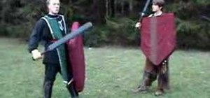 Safely kick your opponent's shield in boffer larp combat
