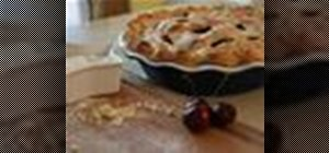 Make homemade cherry pie from scratch