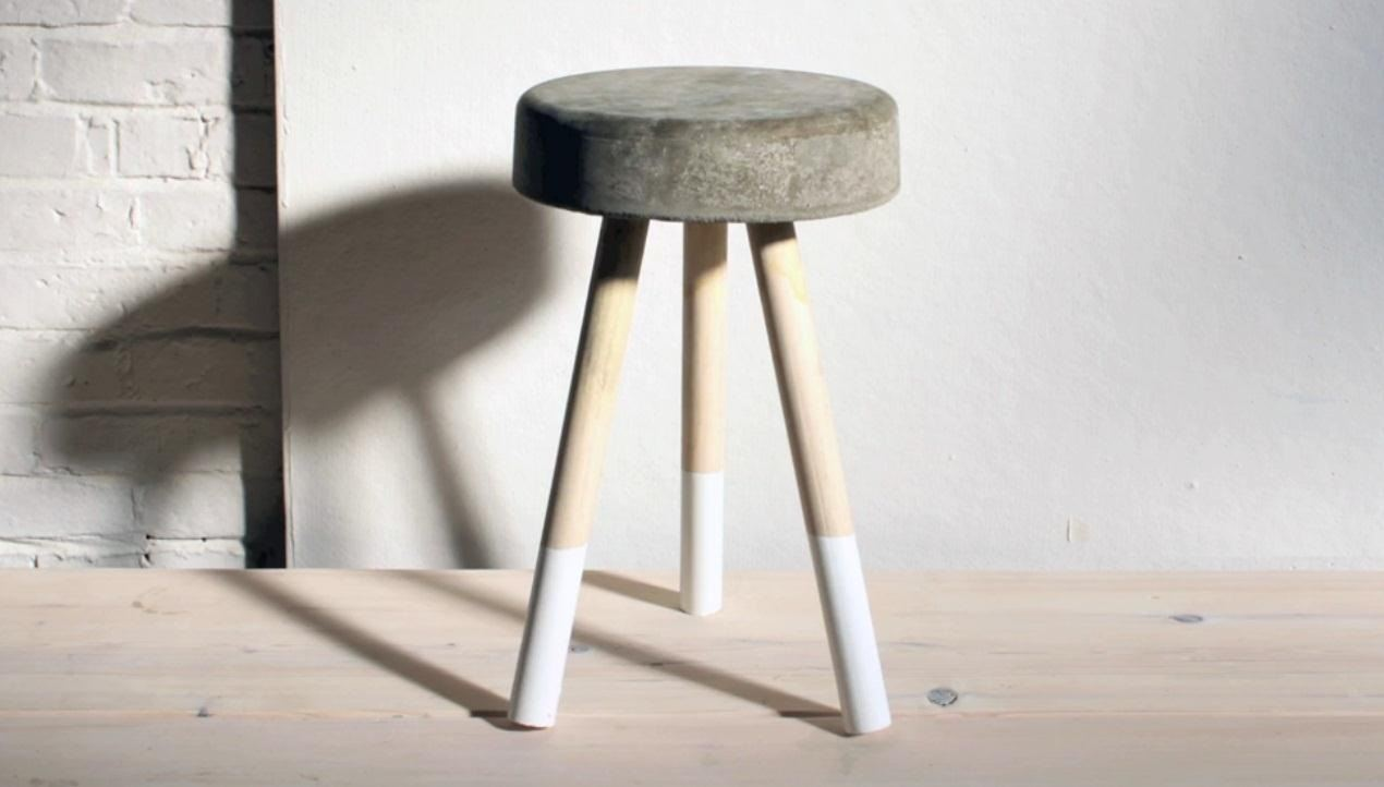 How To Make A Sweet 5 Bar Stool Using Wooden Dowels Concrete Interior Design Wonderhowto