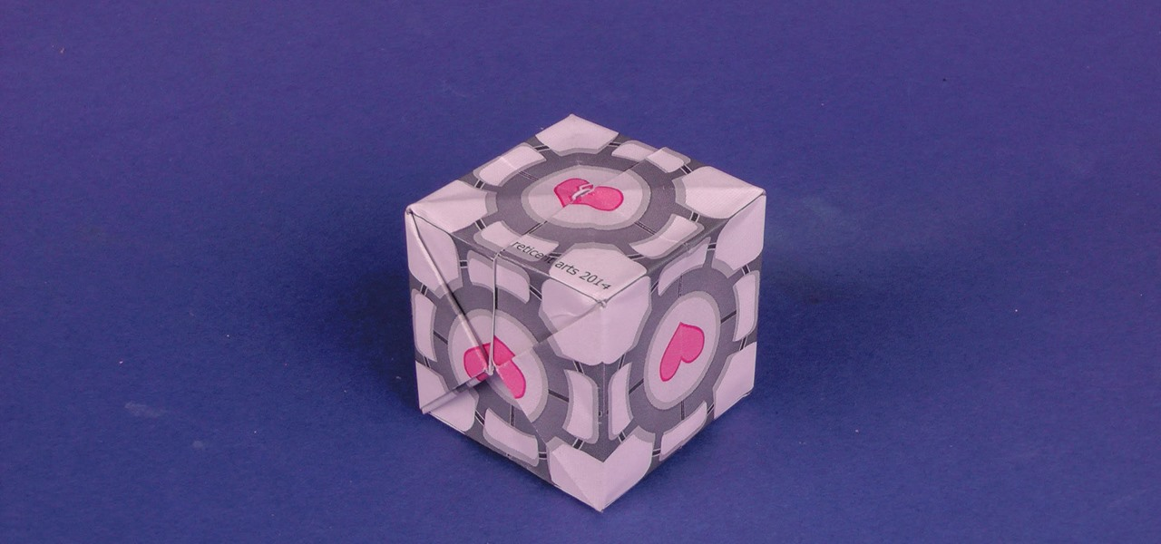 Make a Origami Companion Cube from Portal