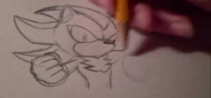 Quickly draw Shadow the Hedgehog
